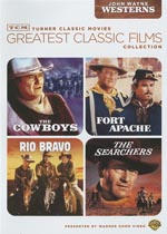 TCM GREATEST CLASSIC FILMS : JOHN WAYNE WESTERNS (SEARCHERS / FORT APACHE(ENG ONLY) / RIO BRAVO / CO
